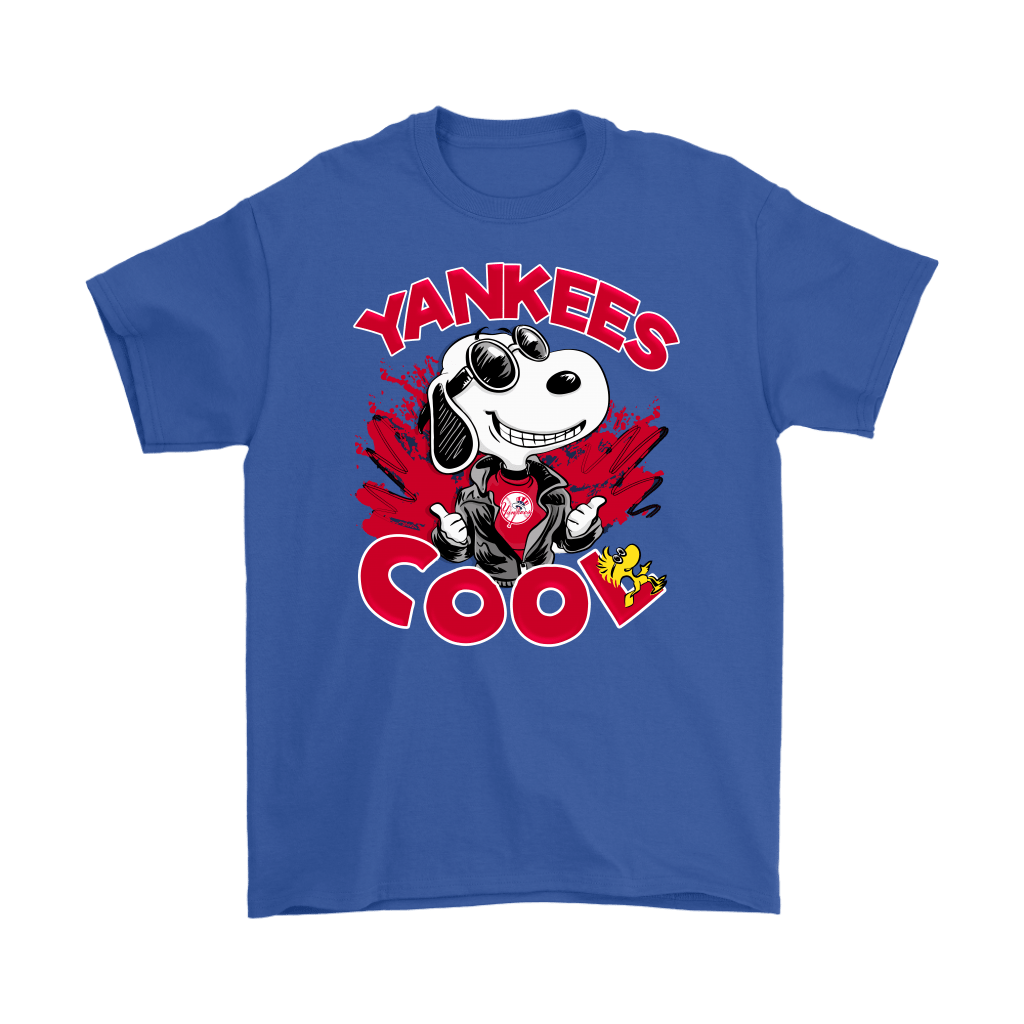 New York Yankees Snoopy Joe Cool We're Awesome Shirts 6