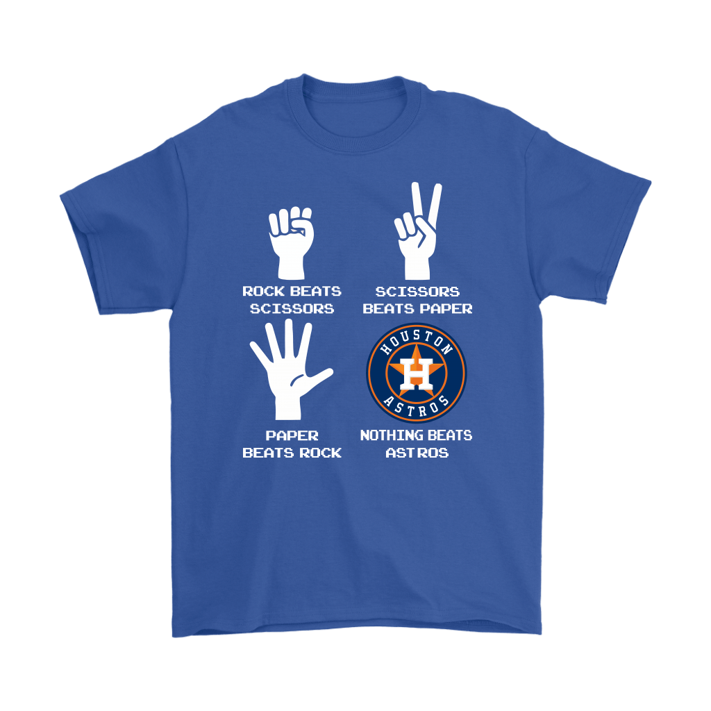 Rock Paper Scissors Nothing Beats The Houston Astros Shirts 6
