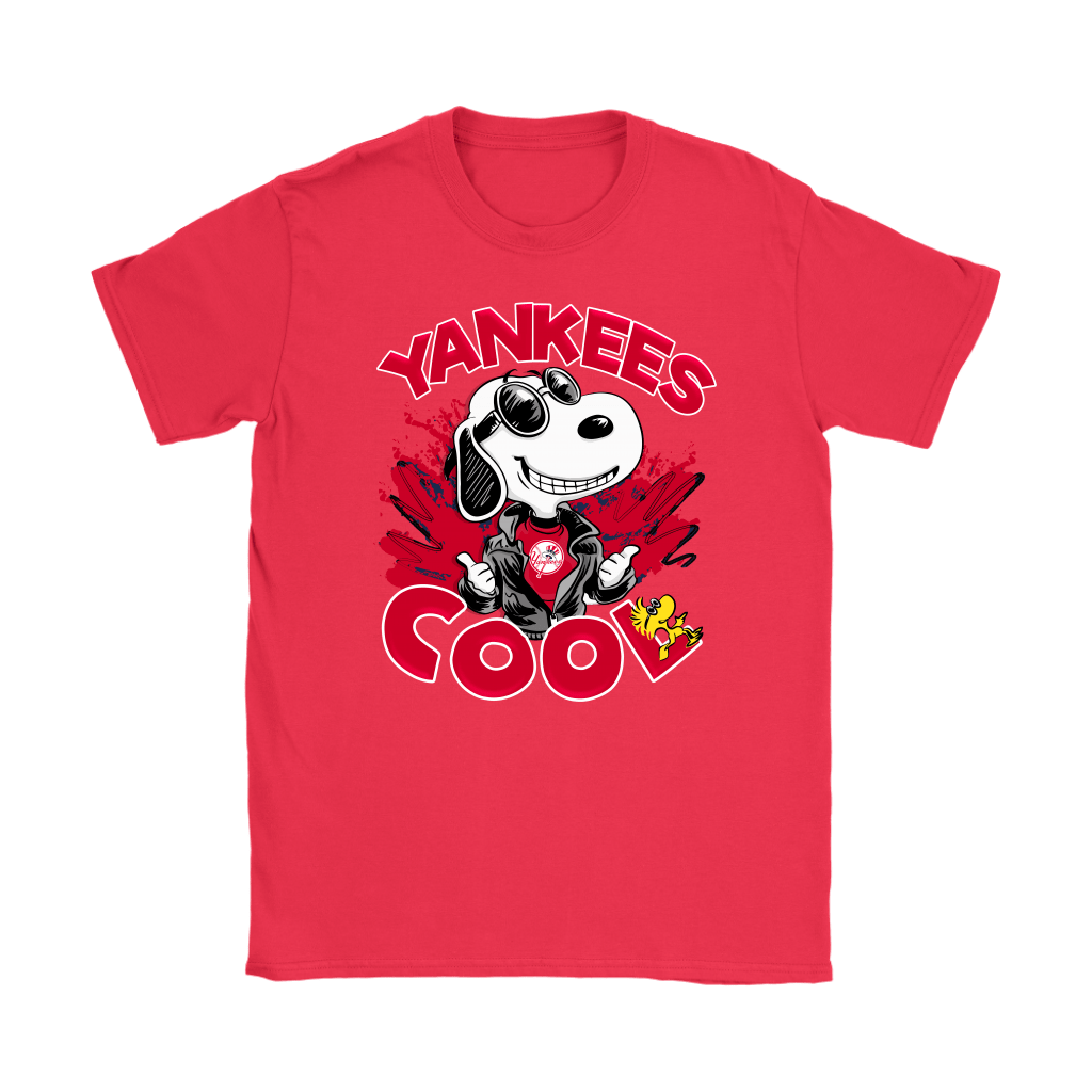 New York Yankees Snoopy Joe Cool We're Awesome Shirts 12