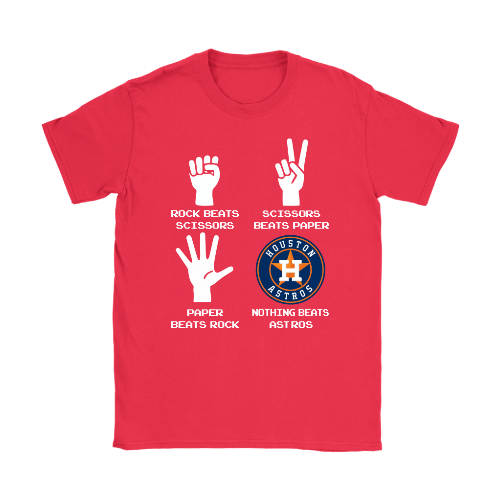 Rock Paper Scissors Nothing Beats The Houston Astros Shirts 12