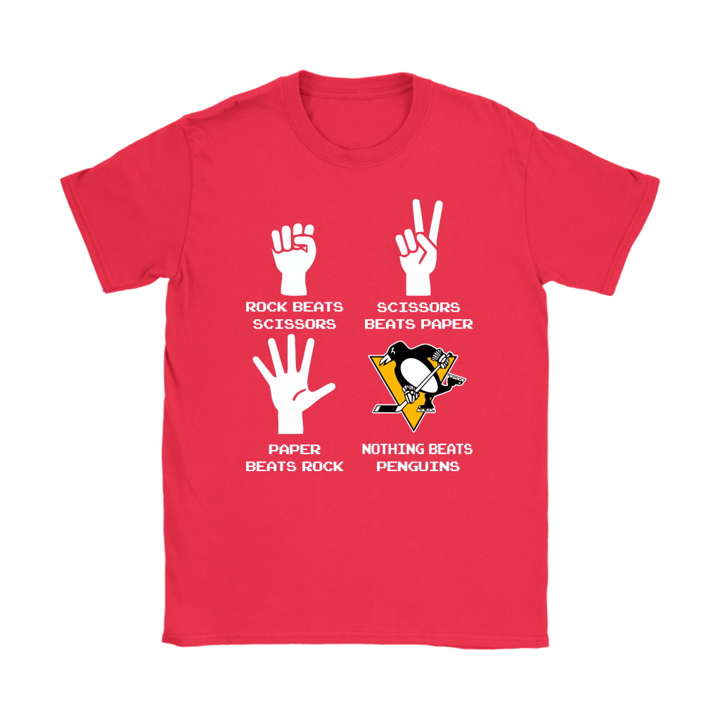 Rock Paper Scissors Nothing Beats The Pittsburgh Penguins Shirts 12