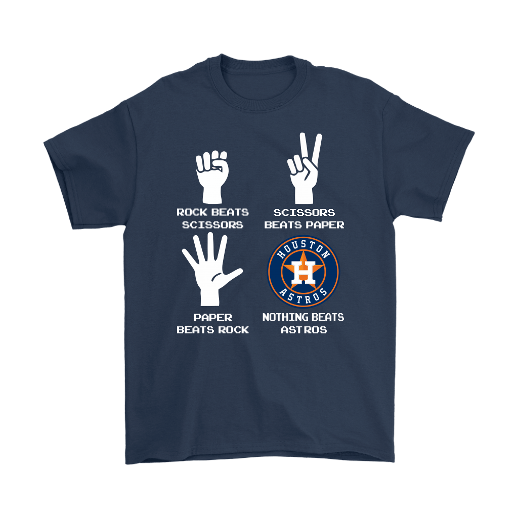 Rock Paper Scissors Nothing Beats The Houston Astros Shirts 3