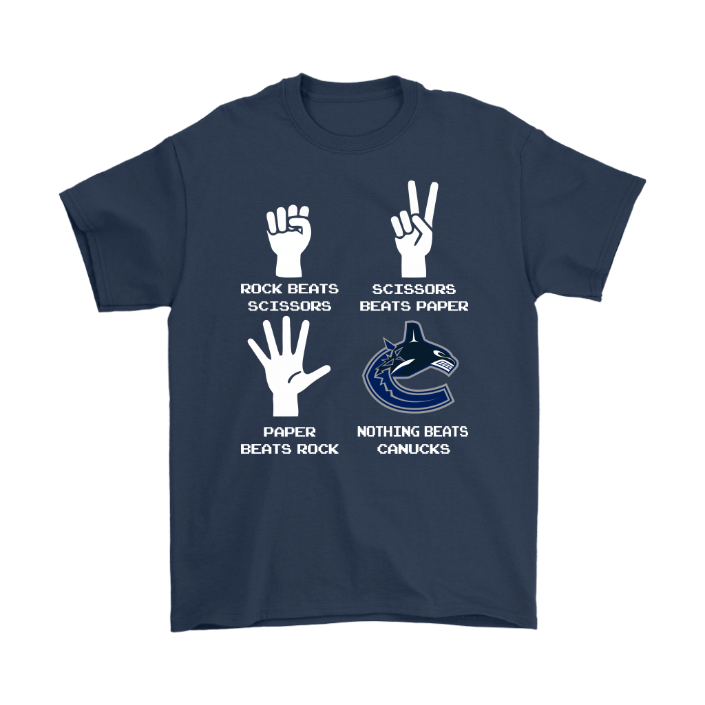 Rock Paper Scissors Nothing Beats The Vancouver Canucks Shirts 3