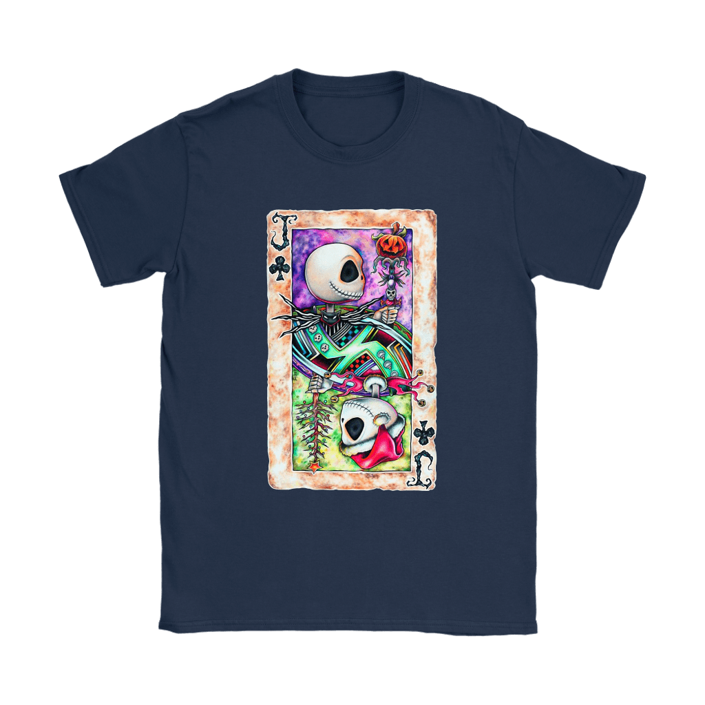 Jack Skellington Jack Card Of Club Halloween Shirts 10