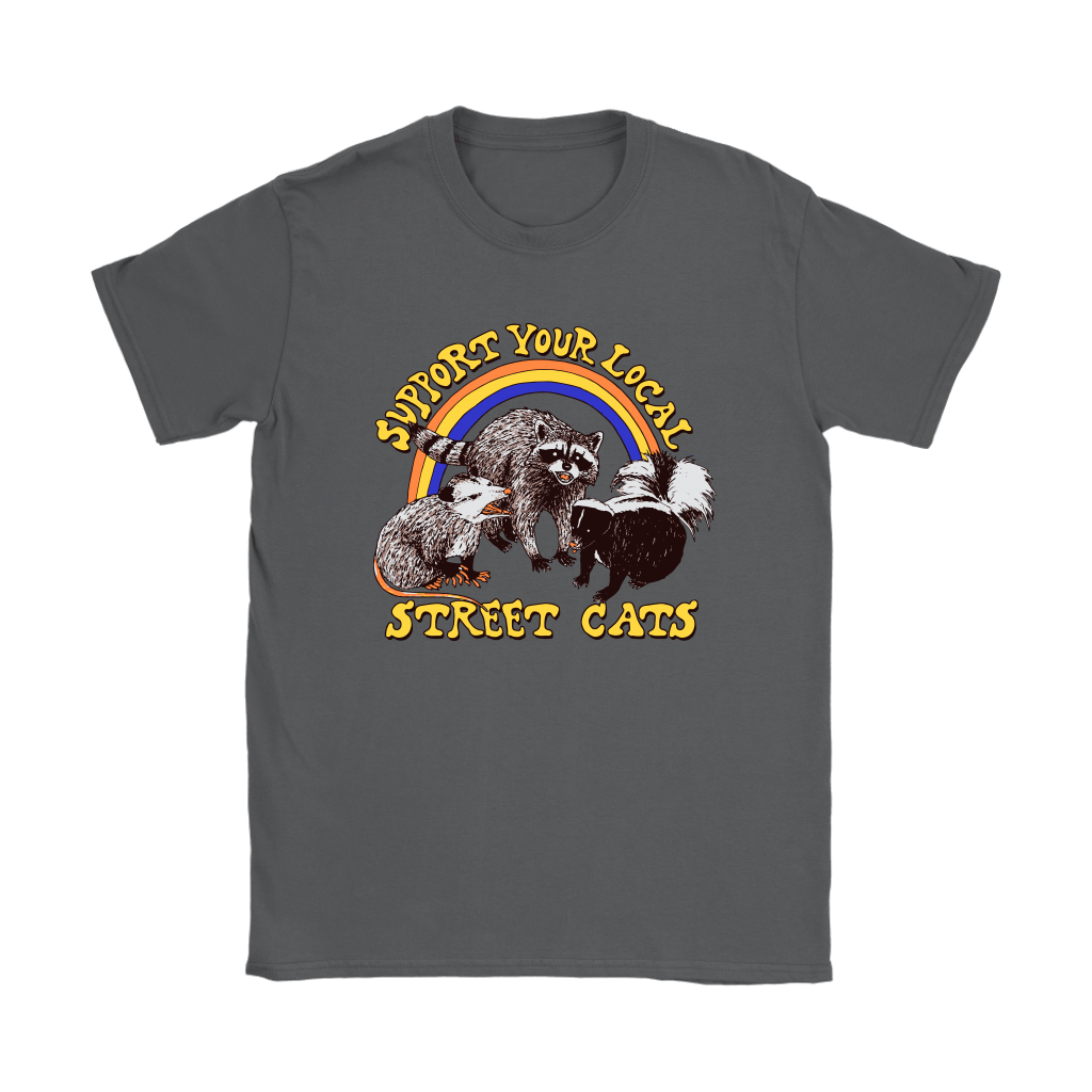Support Your Local Street Cats Trash Panda Skunk Wild Animal Shirts 9