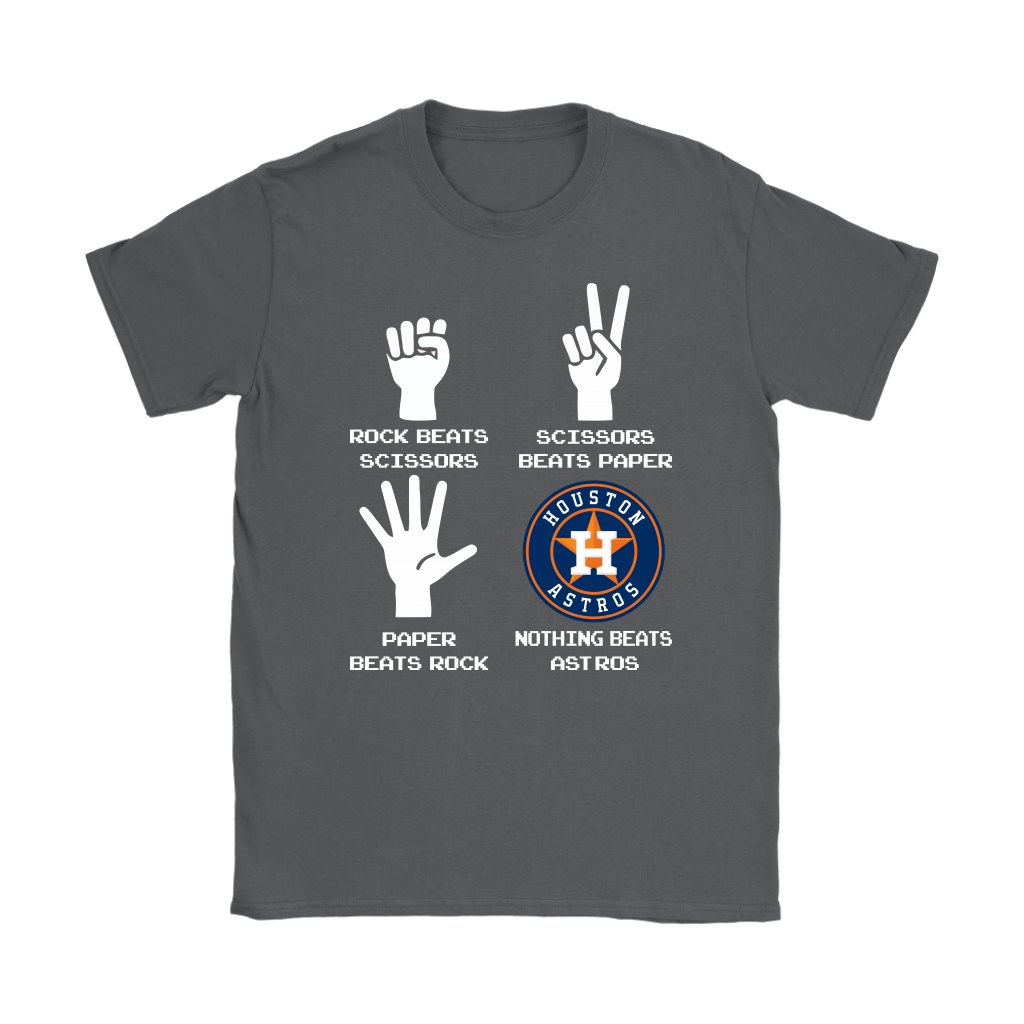 Rock Paper Scissors Nothing Beats The Houston Astros Shirts 9