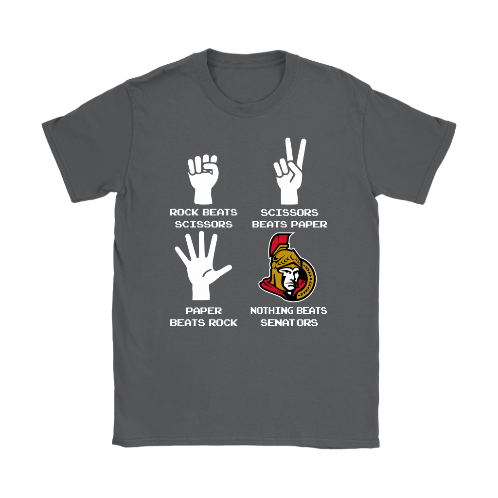 Rock Paper Scissors Nothing Beats The Ottawa Senators Shirts 9