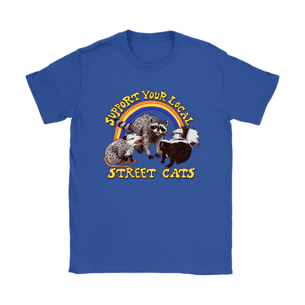 Support Your Local Street Cats Trash Panda Skunk Wild Animal Shirts 12