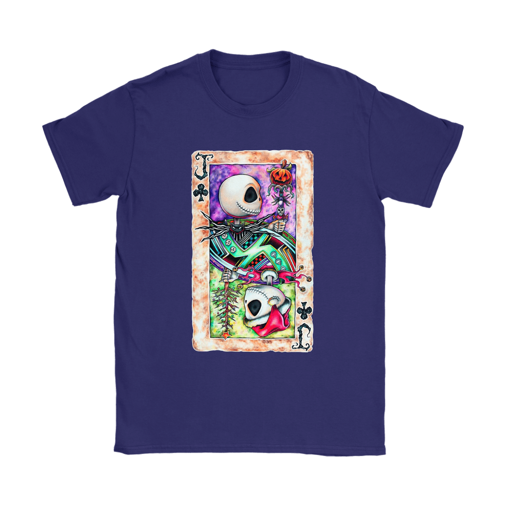 Jack Skellington Jack Card Of Club Halloween Shirts 11