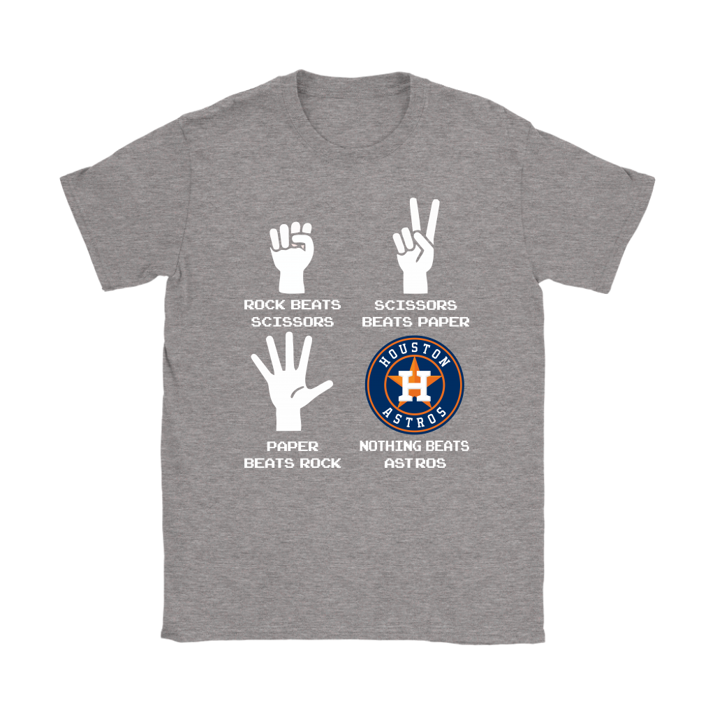 Rock Paper Scissors Nothing Beats The Houston Astros Shirts 14