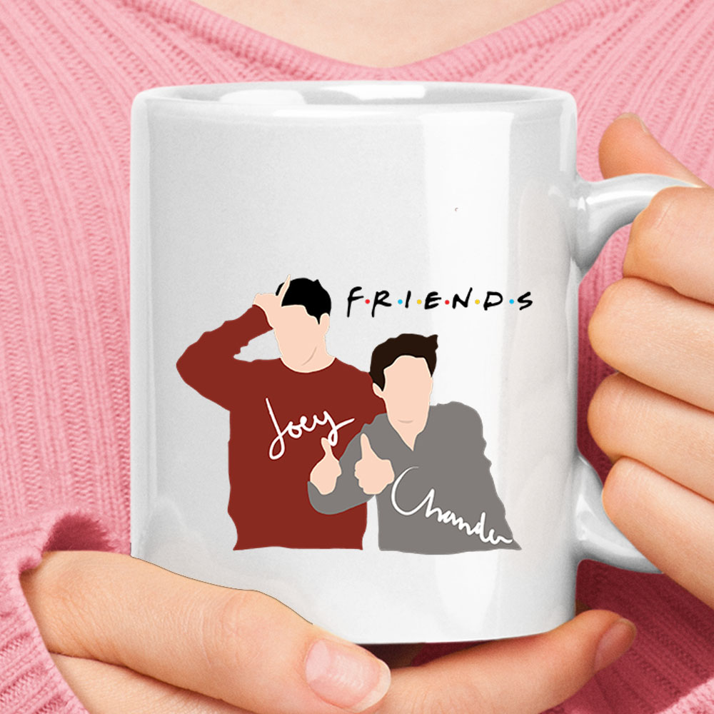 Simplified Drawing Joey And Chandler F.R.I.E.N.D.S Mug 1