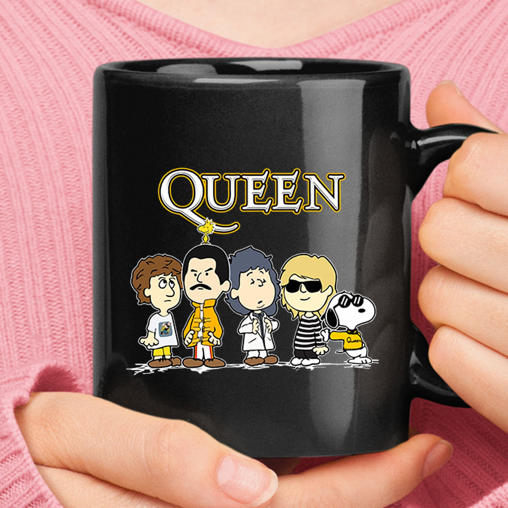 Snoopy Joe Cool With The Queen Band Mug 1