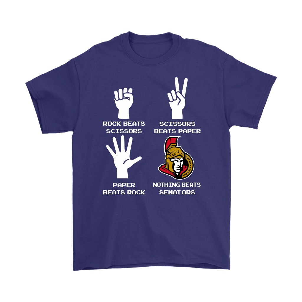 Rock Paper Scissors Nothing Beats The Ottawa Senators Shirts 4