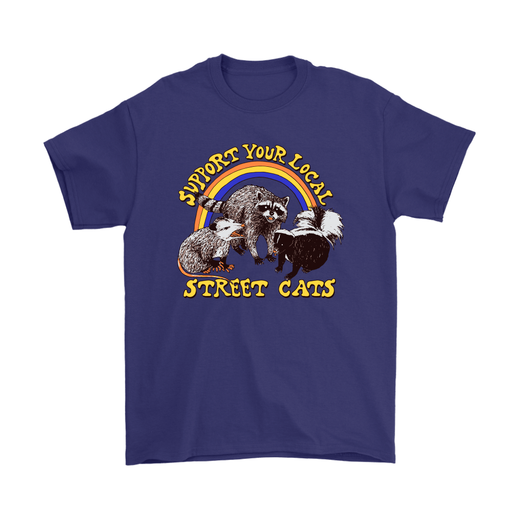 Support Your Local Street Cats Trash Panda Skunk Wild Animal Shirts 17
