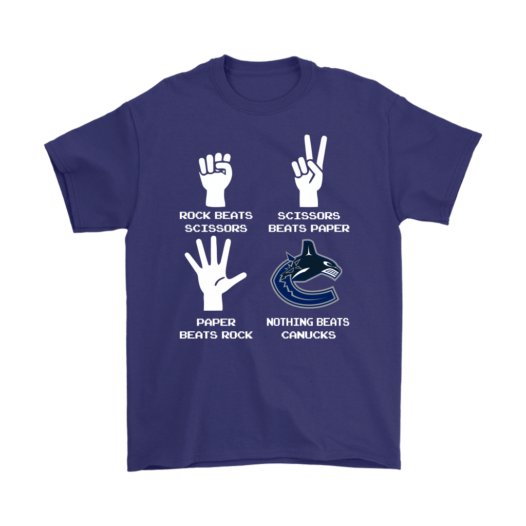 Rock Paper Scissors Nothing Beats The Vancouver Canucks Shirts 4