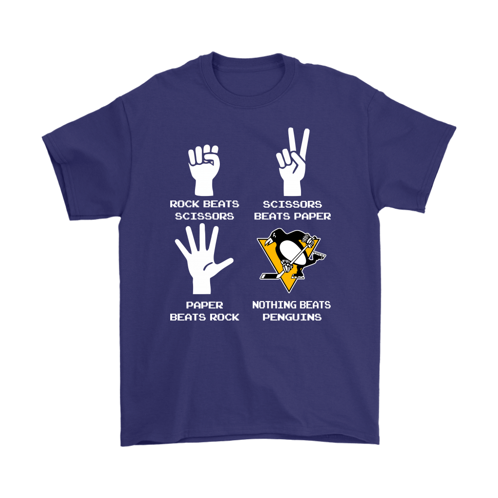 Rock Paper Scissors Nothing Beats The Pittsburgh Penguins Shirts 4