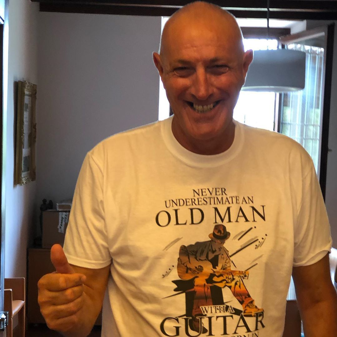 Never Underestimate An Old Man With A Guitar Born In August Shirts photo review