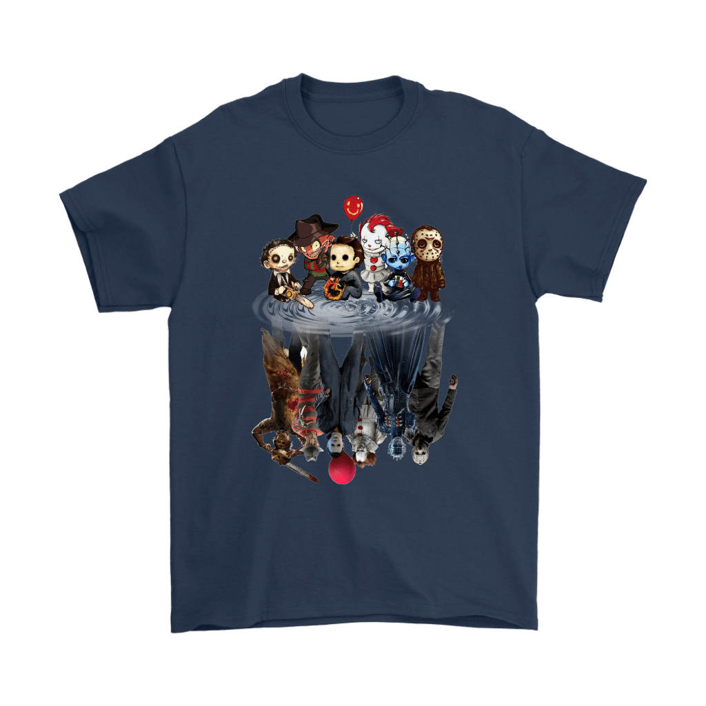 Horror Movies Killers Chibi Reflection Shirts 3