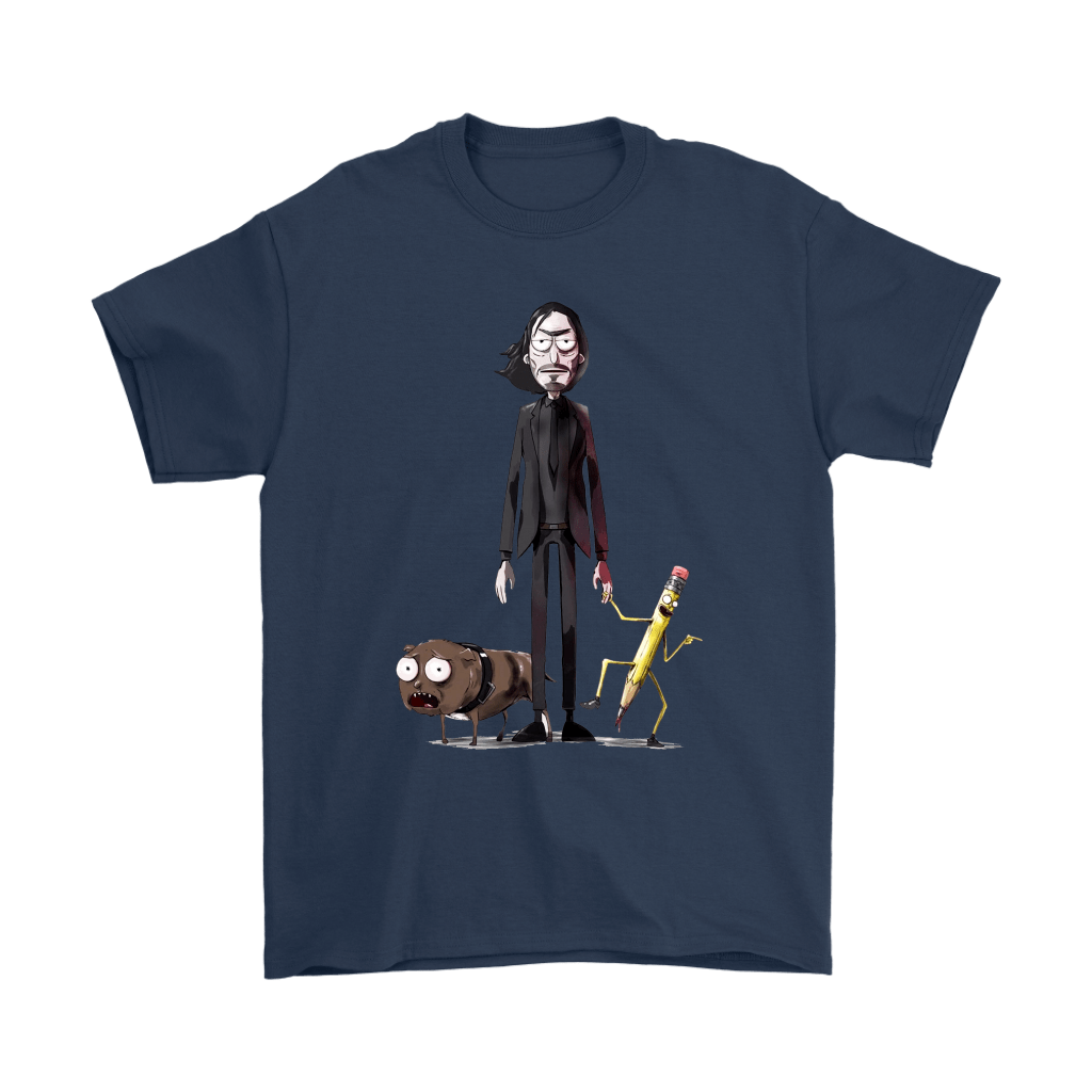 John Wick Dog And Pencil In Rick And Morty Style Shirts 3