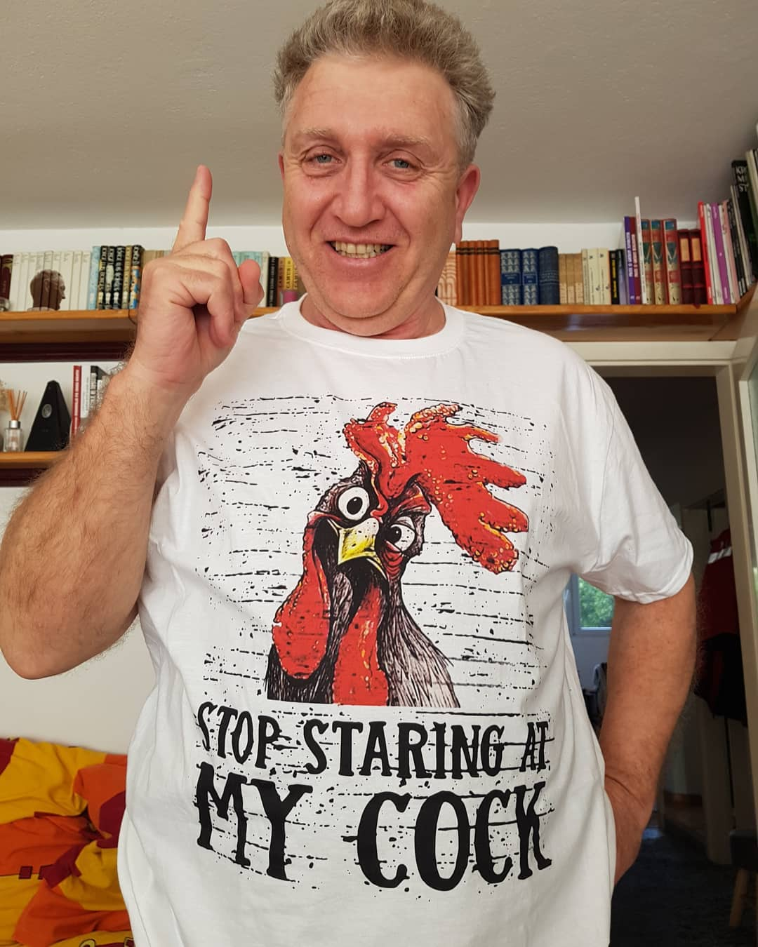 Stop Staring At My Cock Rooster Shirts photo review