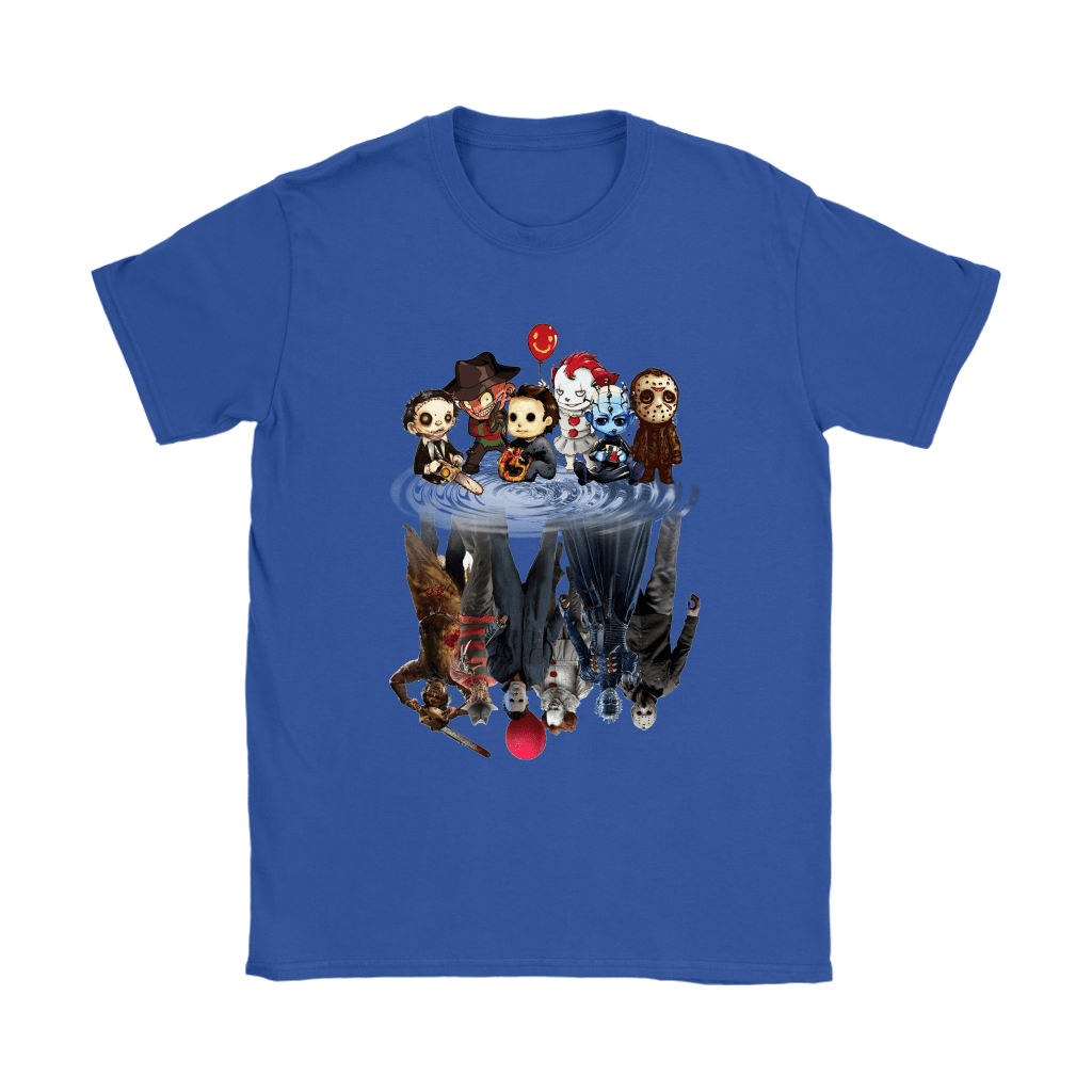 Horror Movies Killers Chibi Reflection Shirts 10