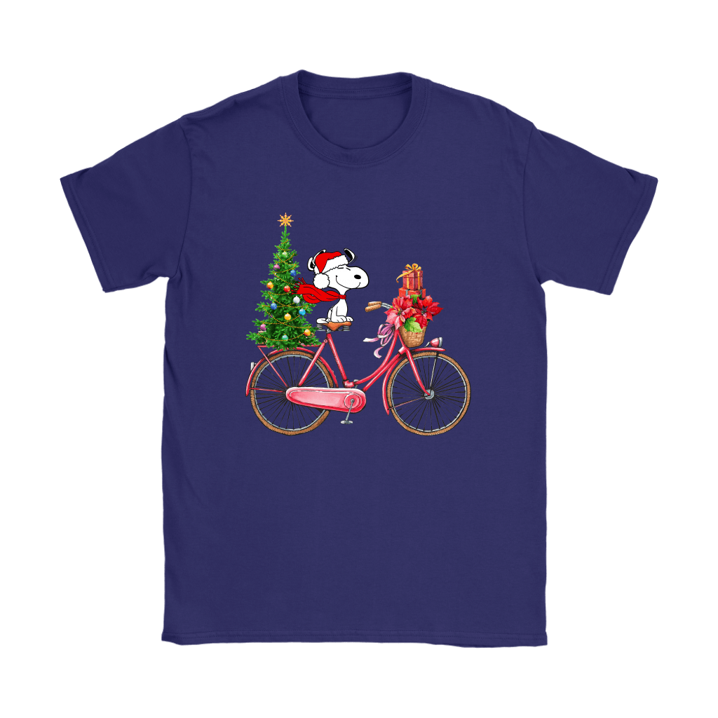 Enjoy The Bicycle Ride It's Christmas Time Snoopy Shirts 11