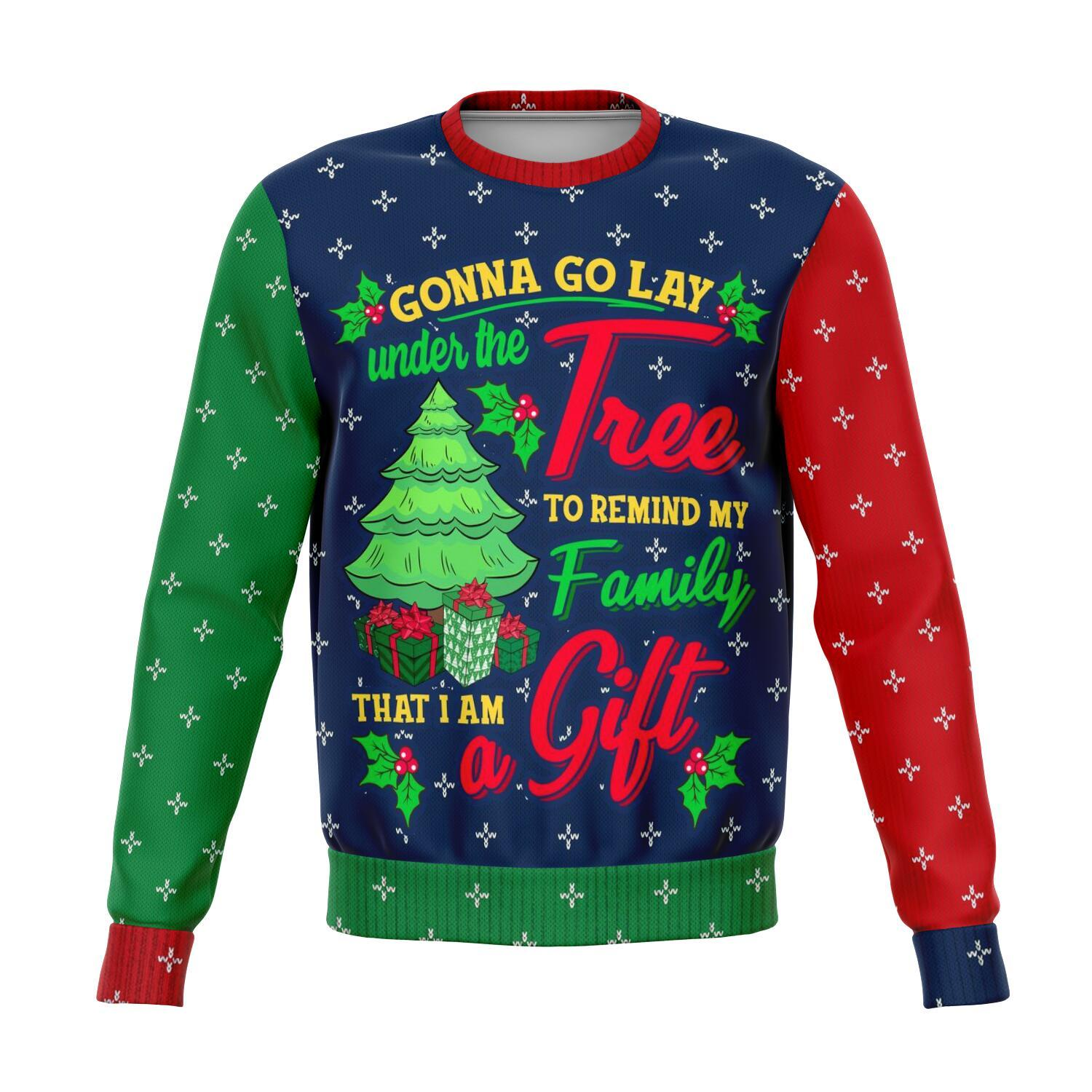Lay Under The Tree I Am The Greatest Gift All-Over Printed Sweaters 1