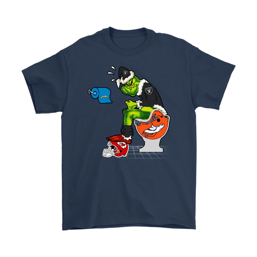 The Grinch Oakland Raiders Shit On Other Teams Christmas Shirts 14