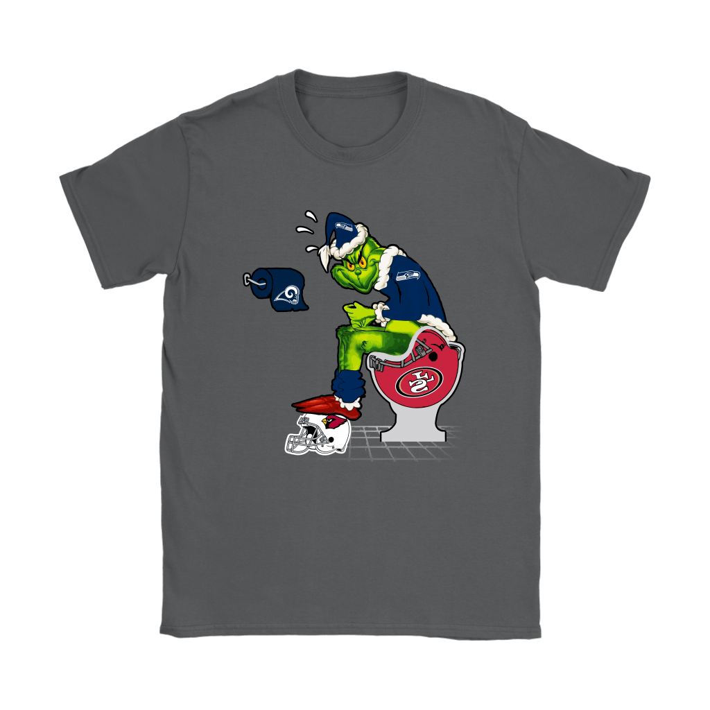 The Grinch Seattle Seahawks Shit On Other Teams Christmas Shirts 9