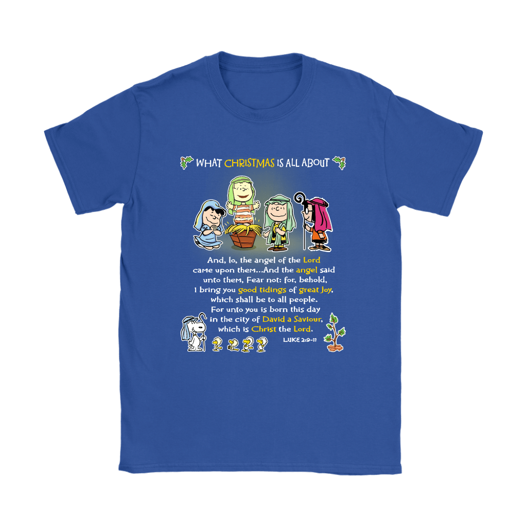 Snoopy What Christmas Is All About Charlie Brown Shirts 13