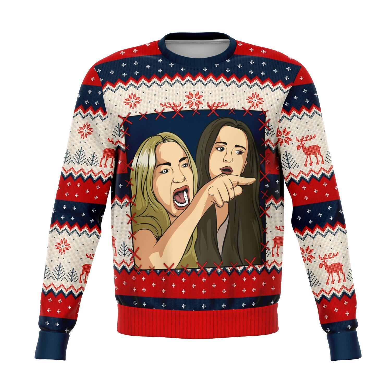 Woman Yelling At A Cat Meme #1 All-Over Printed Sweaters 1