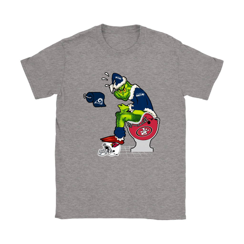 The Grinch Seattle Seahawks Shit On Other Teams Christmas Shirts 13