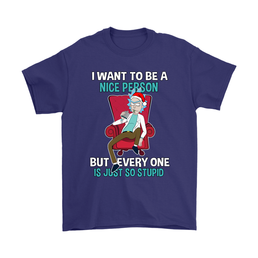 Rick Sanchez I Want To Be A Nice Person Christmas Shirts 4