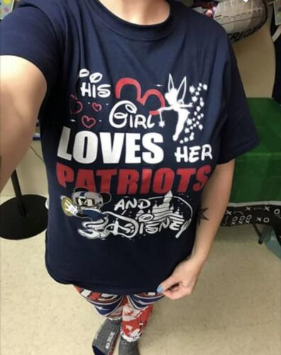 This Girl Loves Her New England Patriots And Mickey Disney Shirts photo review
