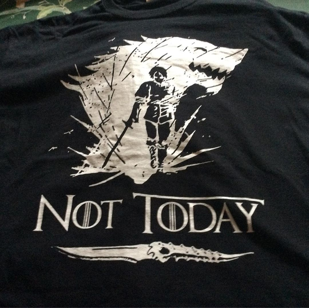 Not Today Death Valyrian Dagger Arya Stark Shirts photo review