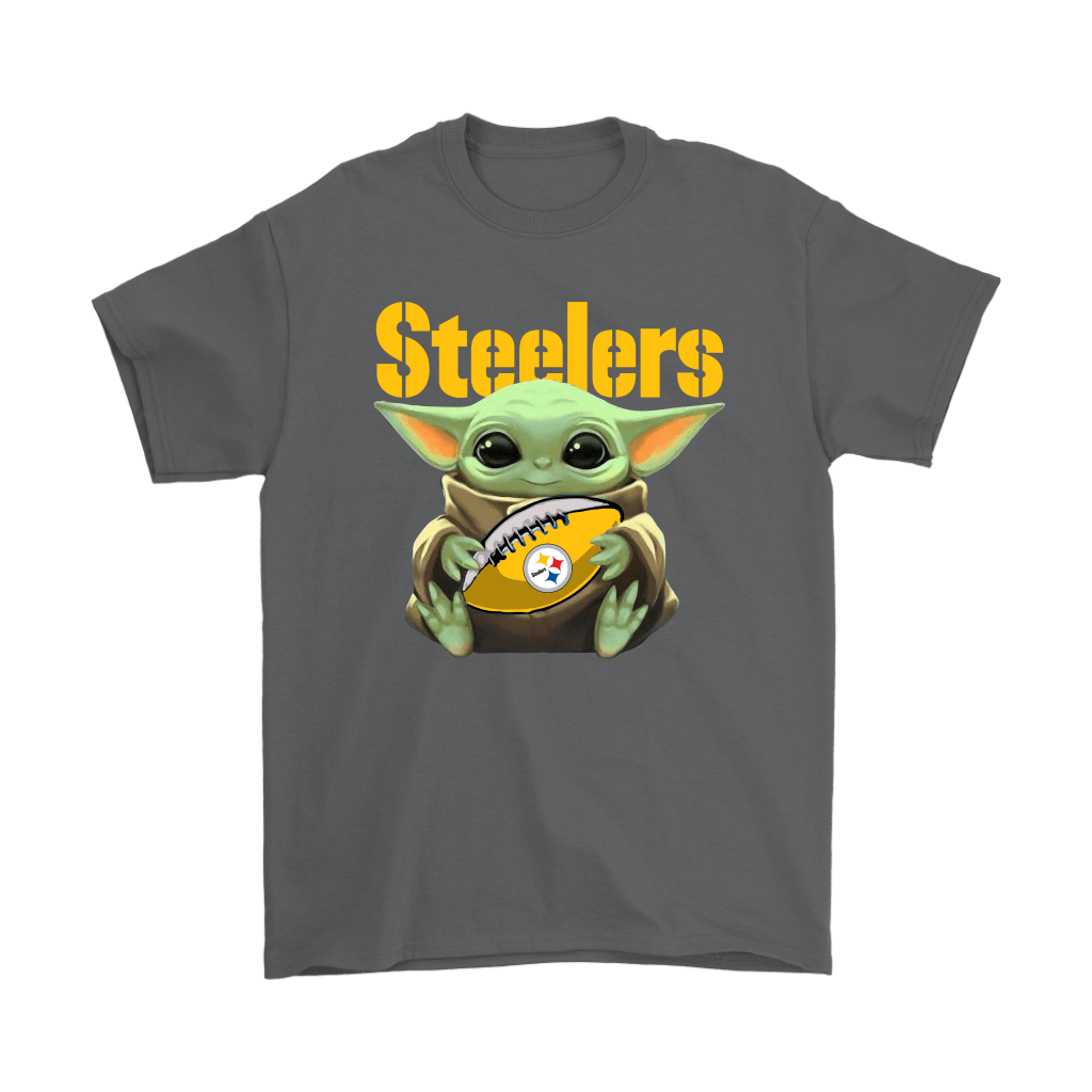 Baby Yoda Loves The Pittsburgh Steelers Star Wars NFL Shirts 2