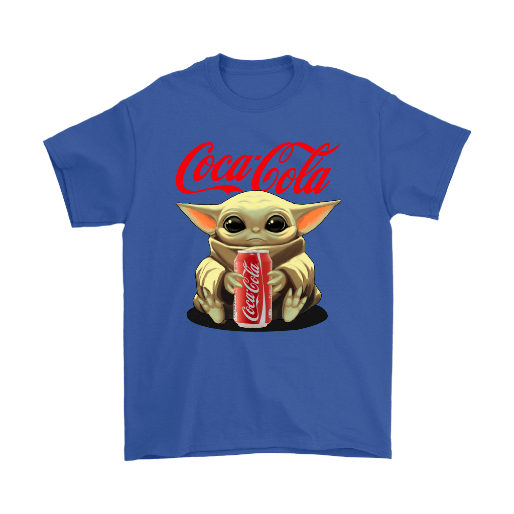 Baby Yoda Hugs Coca Cola Can Star Wars Shirts 5