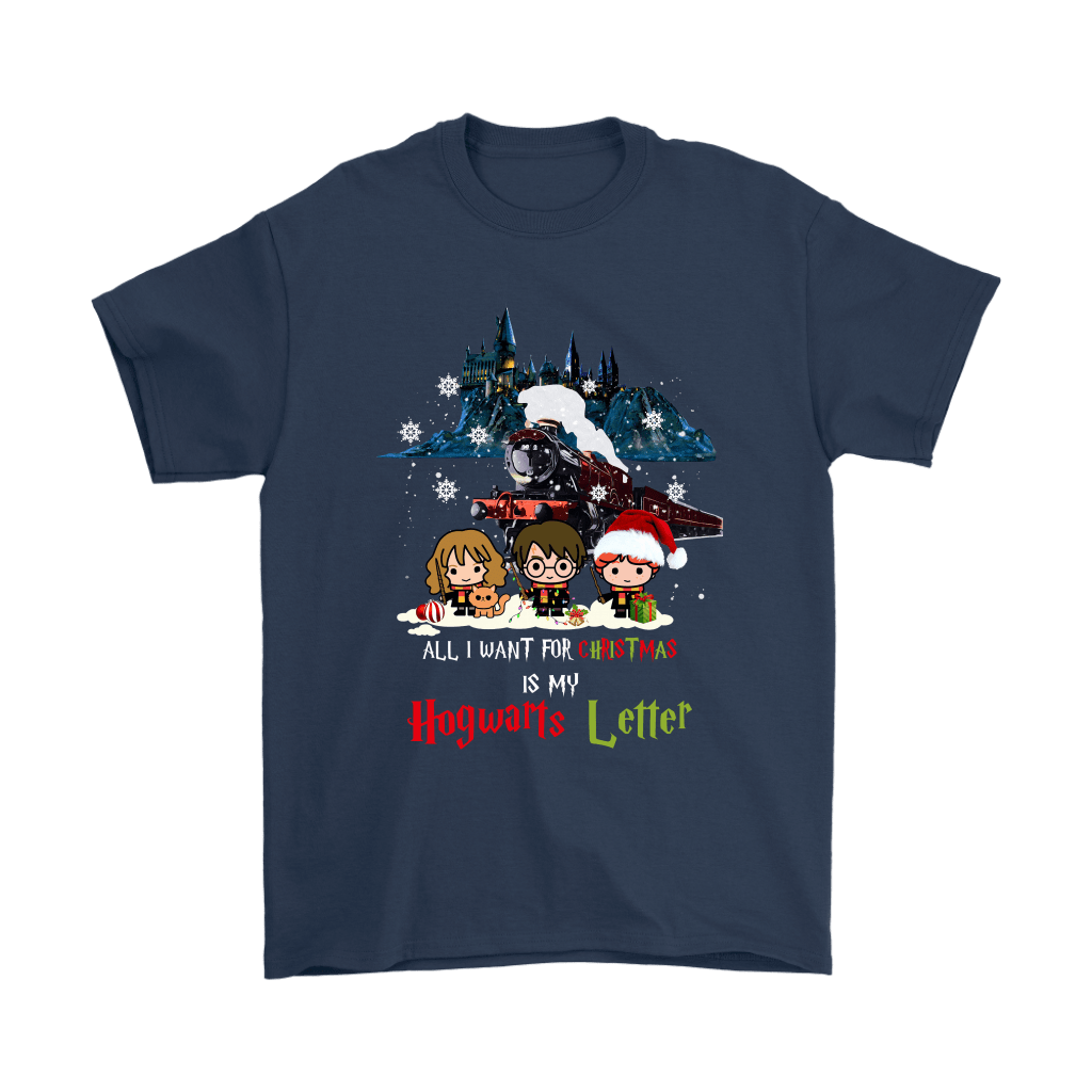 The Golden Trio All I Want For Christmas Is My Hogwarts Letter Shirts 3