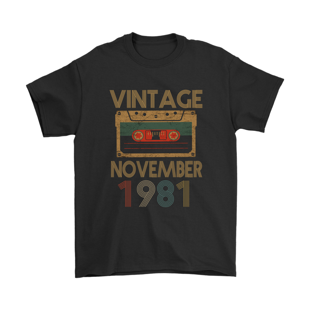 Vintage November 1981 Cassette Tape Birthday Shirts 1