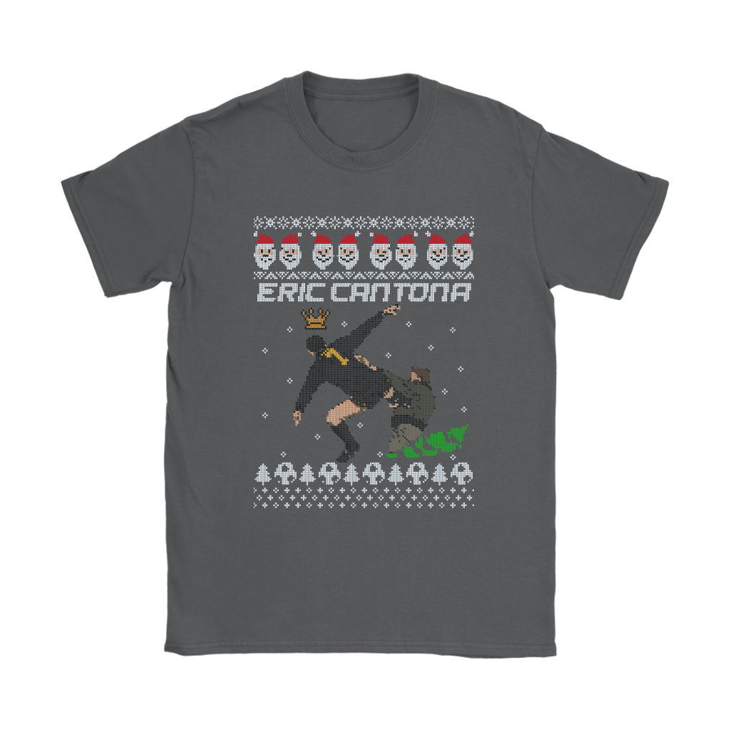 Eric Cantona Kung Fu Kick Ugly Sweater Style Christmas Shirts 9