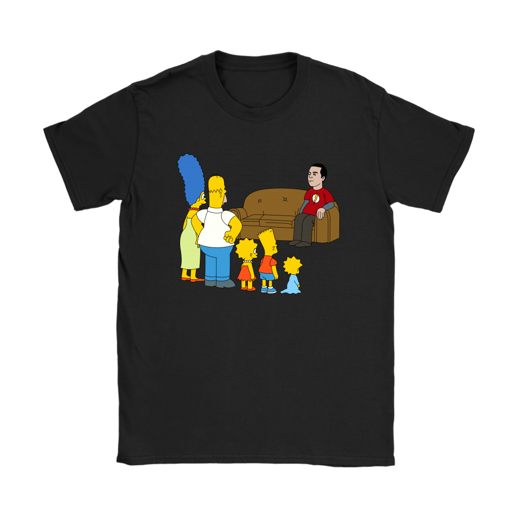 The Simpsons Family And Sheldon Cooper Mashup Shirts 8