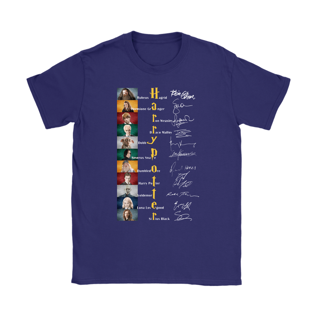 Harry Potter All Characters Name Signature Shirts 11