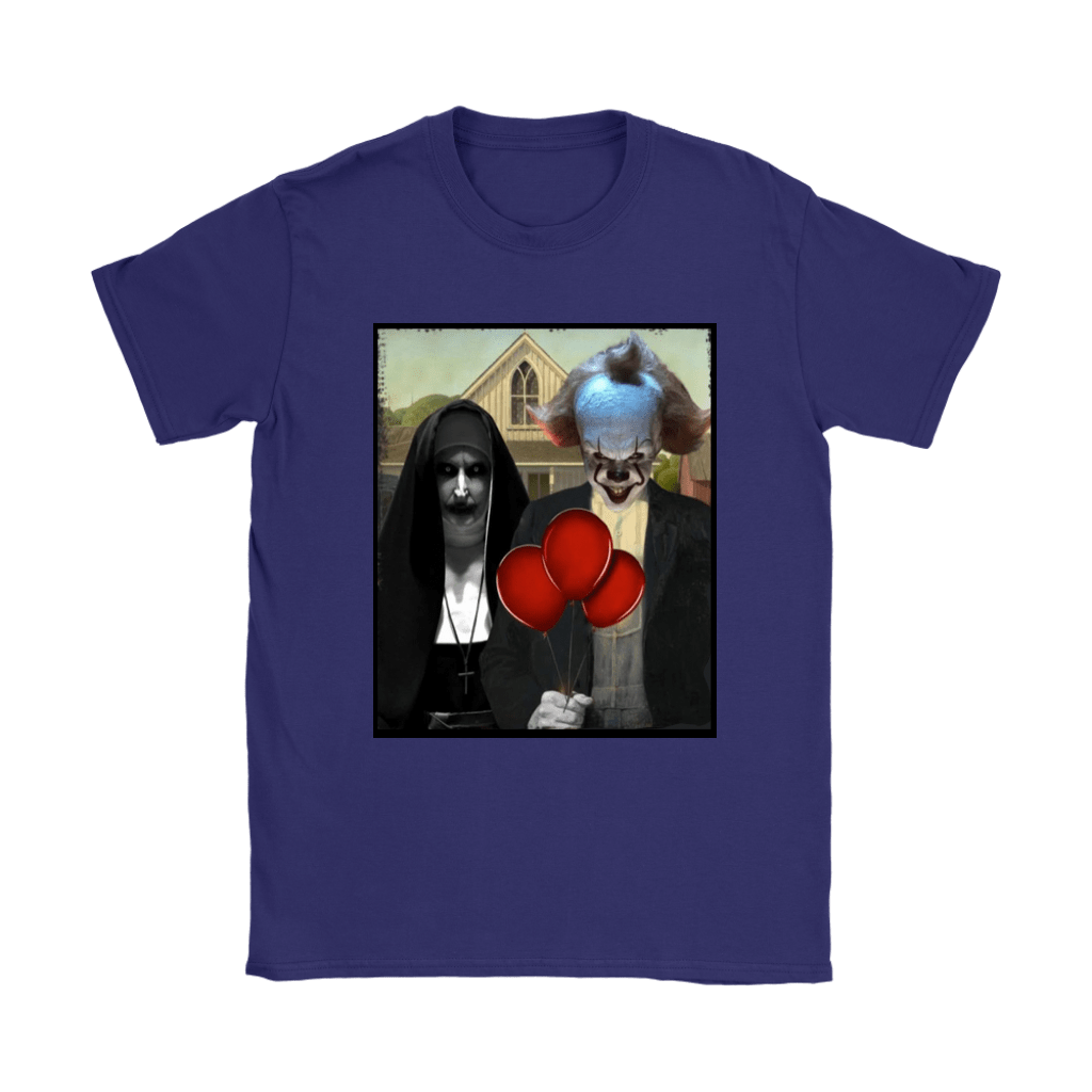 The Nun Valak And Pennywise Horror Mashup Shirts 10