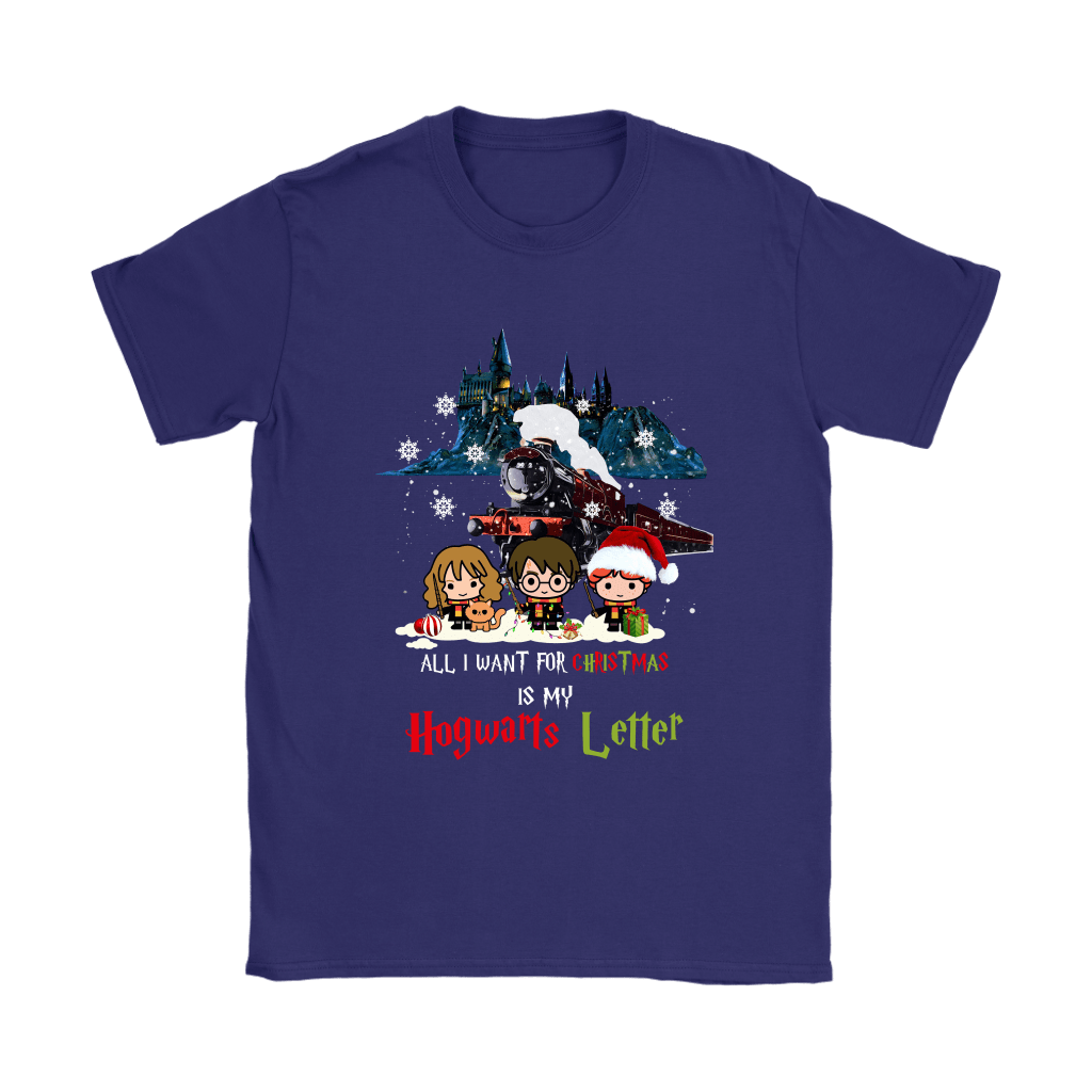 The Golden Trio All I Want For Christmas Is My Hogwarts Letter Shirts 10