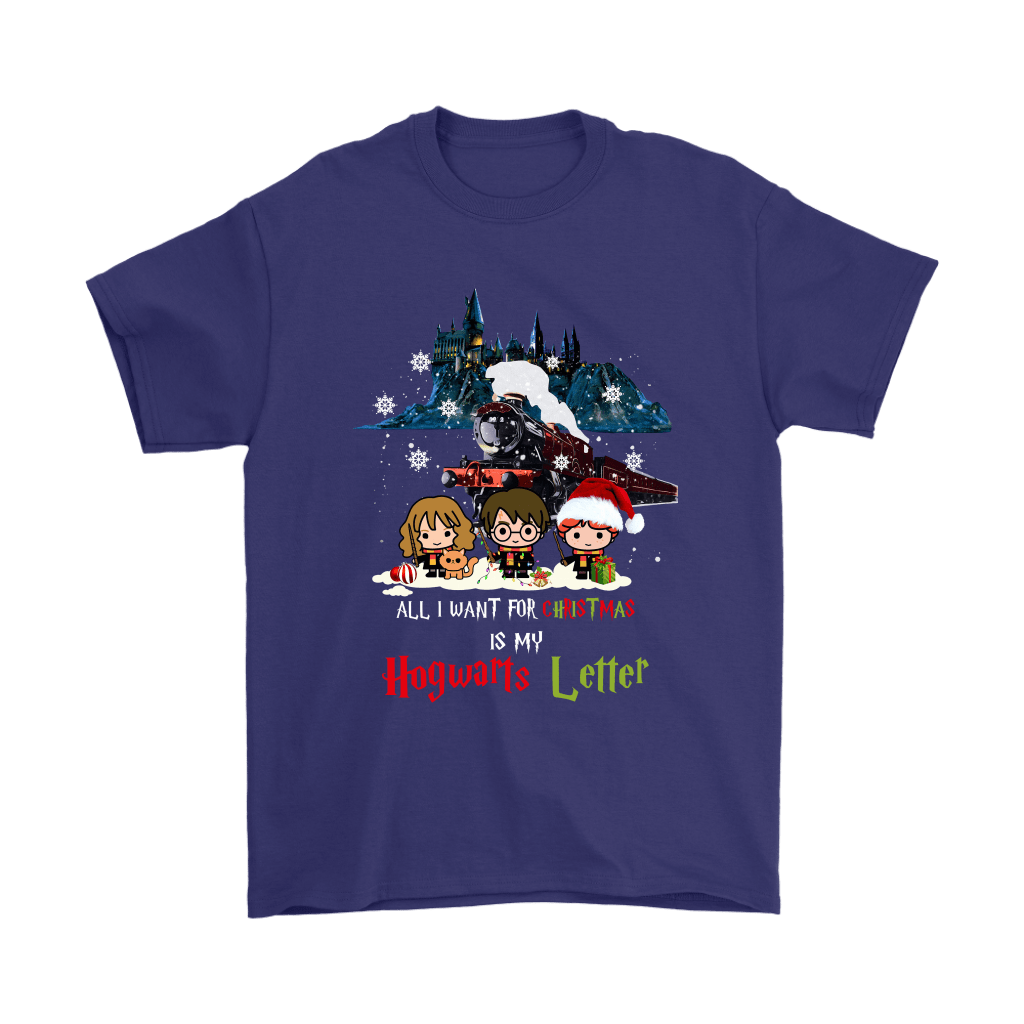 The Golden Trio All I Want For Christmas Is My Hogwarts Letter Shirts 4