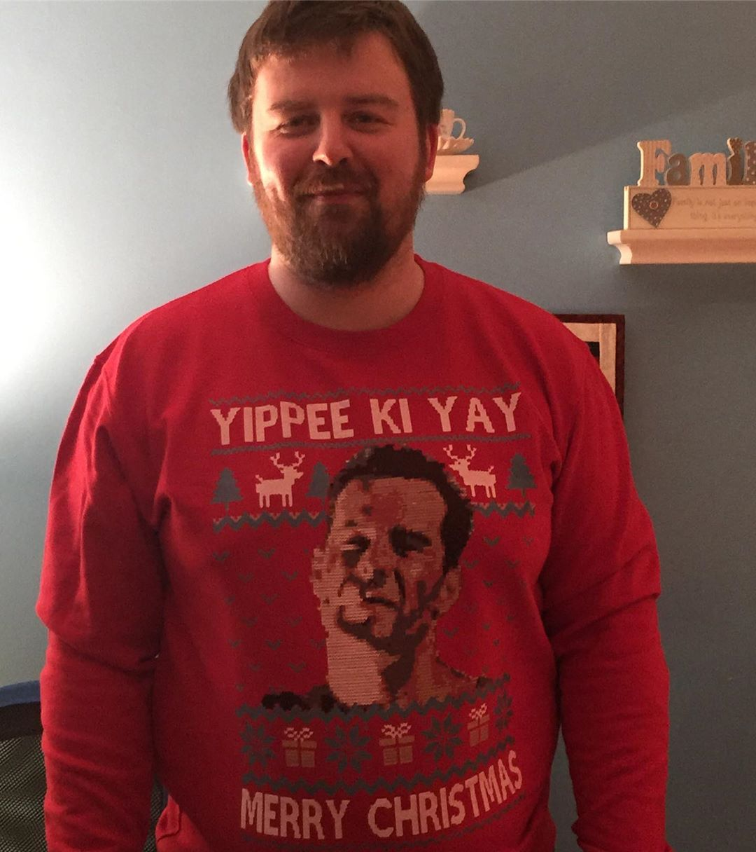 Yippee Ki-Yay Merry Christmas Die Hard Ugly Sweaters photo review