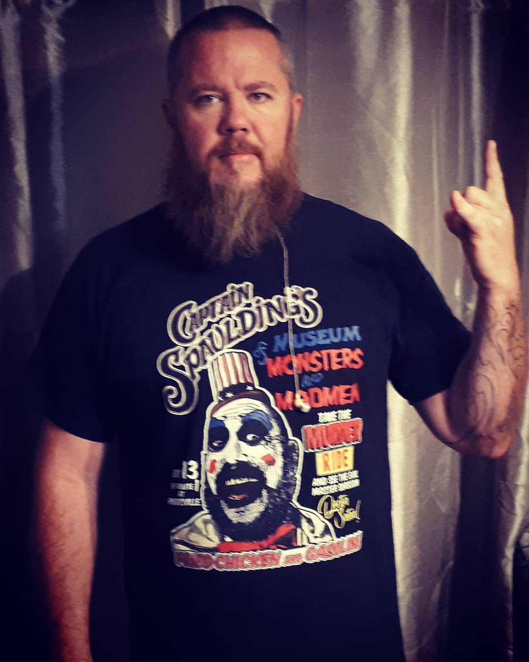 Captain Spaulding Poster Style Museum Monsters And Madman Shirts photo review