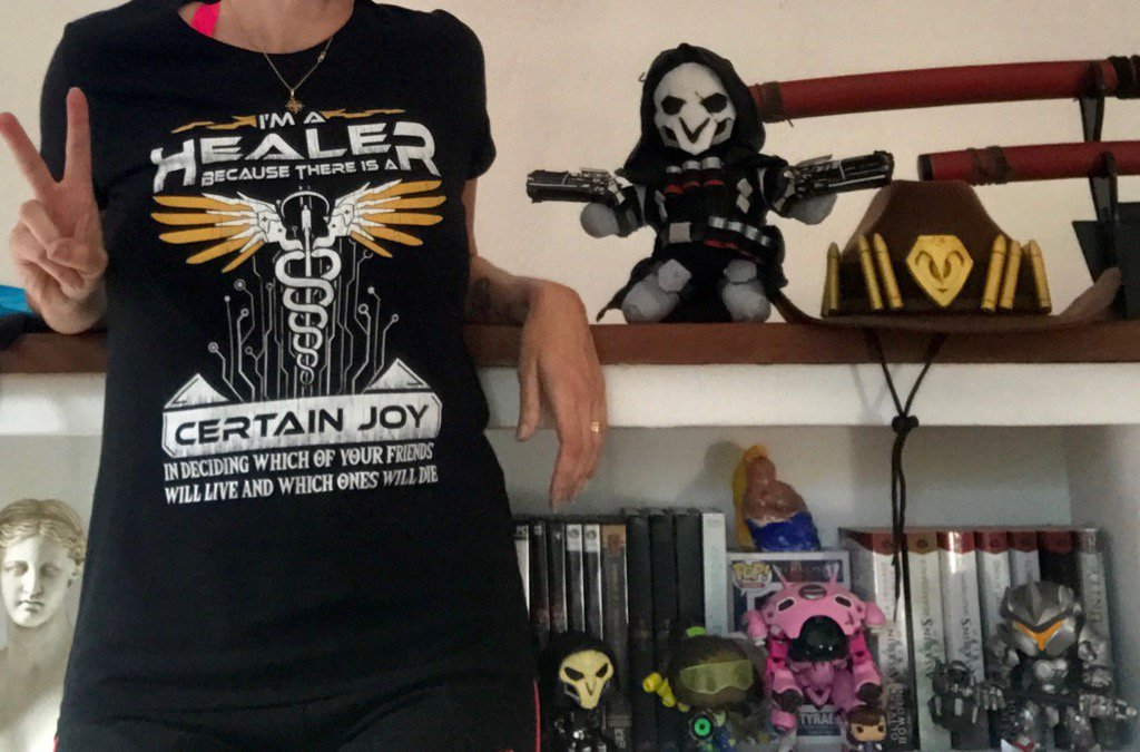 Overwatch I'm A Healer Because There Is A Certain Joy Shirts photo review