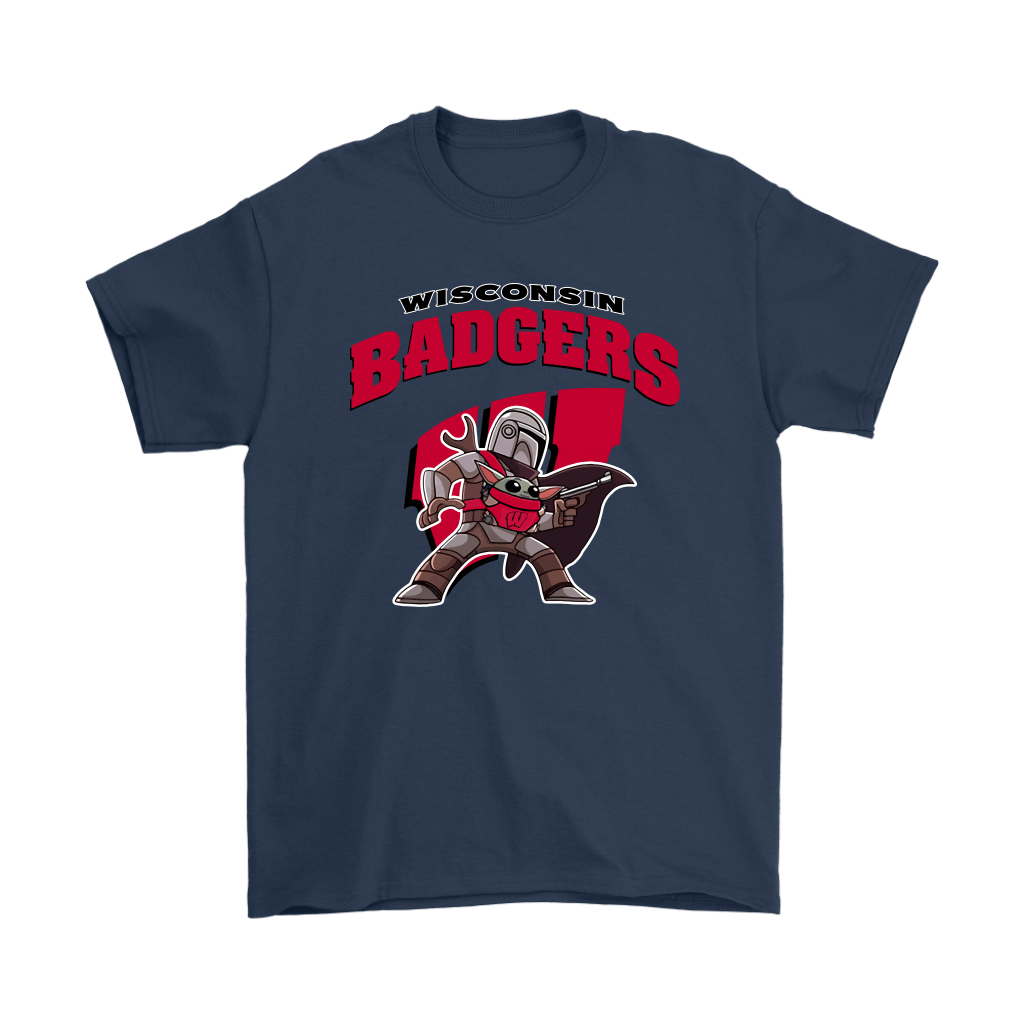 The Mandalorian & Baby Yoda Wisconsin Badgers NCAA Shirts 16