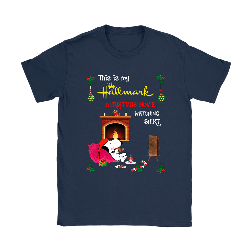 Snoopy This Is My Hallmark Christmas Movie Watching Shirts 9